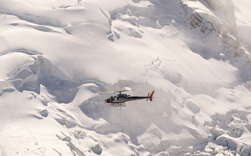 Helicopter at Himalayas