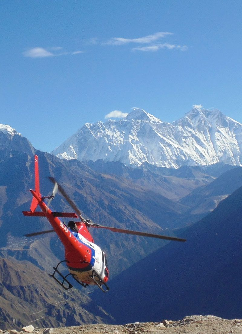 Helicopter at Everest Region