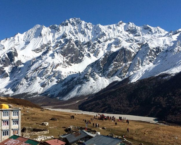 Mount Langtang from Kyanjin