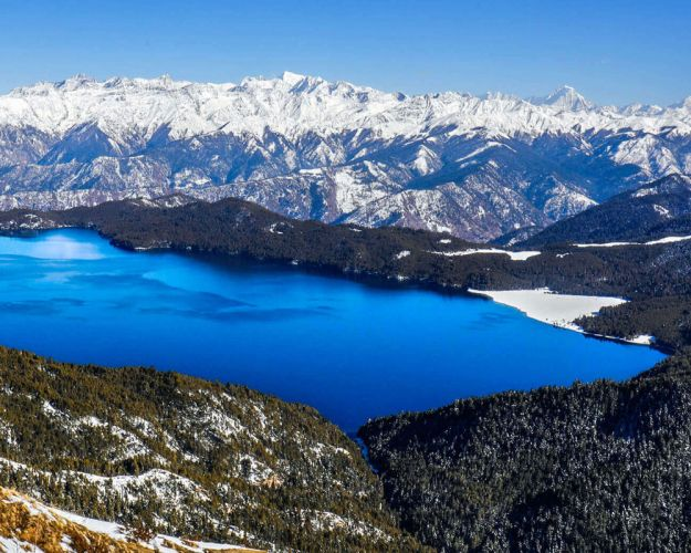 Rara lake in Winter