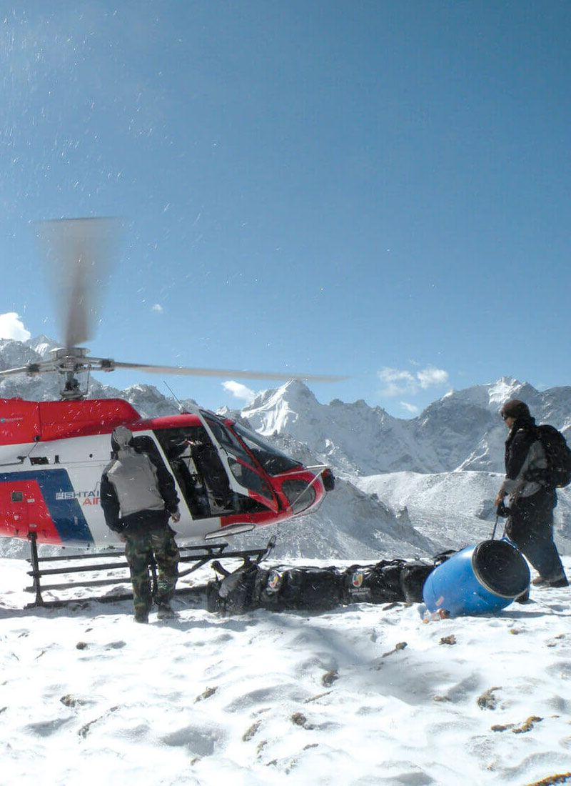 Heli rescue at Himalayas